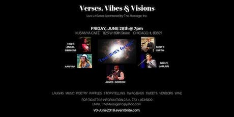 """Verses, Vibes & Visions Live Lit Series: """"I was BORN for this!"""" tickets"""