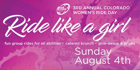 2019 Ride Like a Girl: The Third Annual Colorado Women's Ride Day tickets