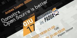 Domotics - Open Source is better - Programmers in Padua