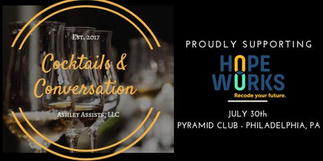 Cocktails and Conversation - Supporting Hope Works tickets