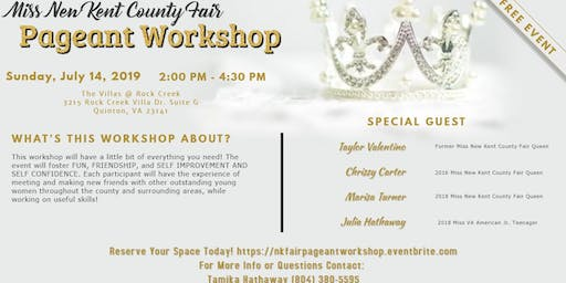 Miss New Kent  County Fair Pageant Workshop