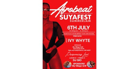 AfroBeat SuyaFest SummerJam tickets