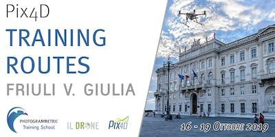 Pix4D Training Routes - Friuli V. Giulia