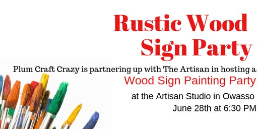 Rustic Wood Sign Paint Party