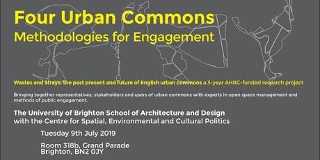 Four Urban Commons: methodologies for engagement tickets