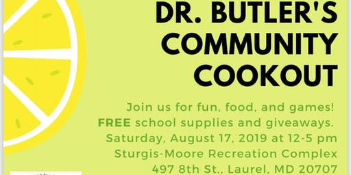 Dr. Butler's Community Cookout