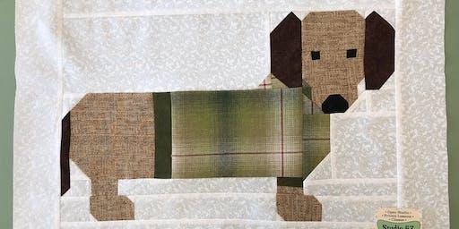 Dachshund Dog Quilt Square