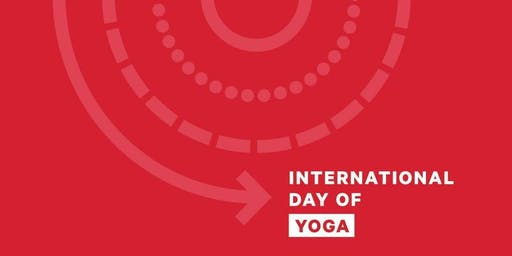 International Day Of Yoga: Gong bathing in yoga movements