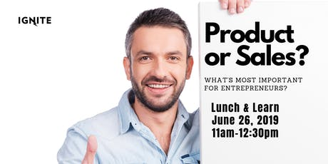 What Is Important For Startups - Product or Sales? tickets