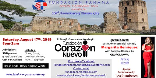 "ANNUAL FUNDRAISING GALA  ""500th Anniversary of Panama City """