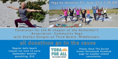 Alzheimers Association Fundraiser-Yoga on the Beach with Shelley