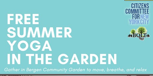 Free summer yoga in the garden!