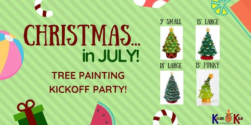 Christmas in July Tree Painting