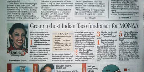 Indian Taco Sale Fundraiser New Muskogee, Ok Indigenous Group tickets