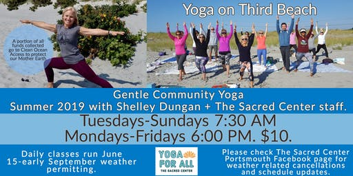 Daily Yoga on Third Beach with Rev. Shelley Dungan & The Sacred Center Staff