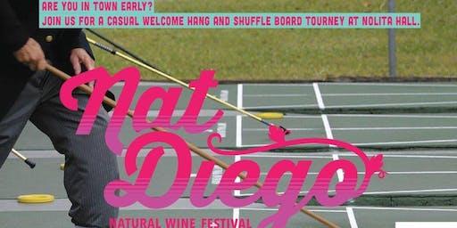 Nat Diego Early Bird Wine Flights & Shuffleboard