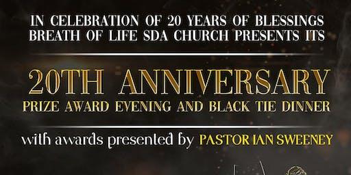 BOL 20th Anniversary Prize Award Evening & Black Tie Dinner