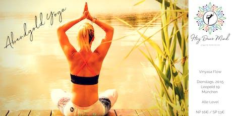 Abendgold Yoga mit Melanie im (T)raum Tickets
