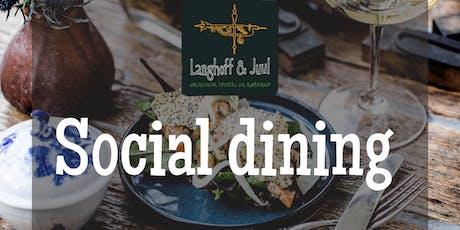 Social dining hos Langhoff & Juul tickets