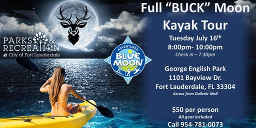 "Full ""Buck"" Moon Paddle Party"