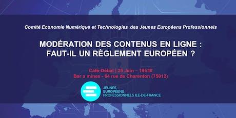 L'UE doit-elle agir sur la modération des contenus en ligne? billets