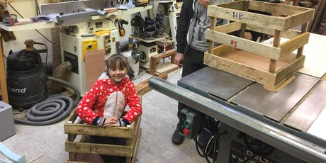 Tuesday 27th August 10am-12pm Make a Toy Crate,  £25 Age 8-16  tickets