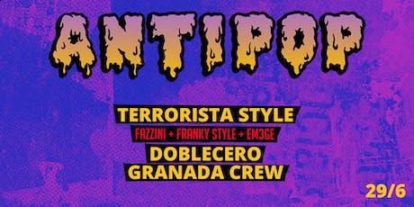 ANTIPOP 2da edicion - Fazzini, Franky Style, Em3ge entradas
