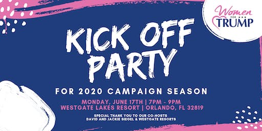 WOMEN FOR TRUMP - KICK OFF PARTY FOR 2020 CAMPAIGN SEASON