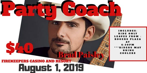 Party Coach to Brad Paisley Concert