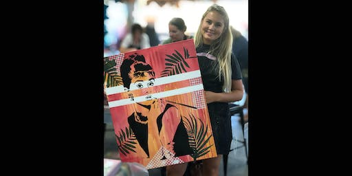 Audrey Paint and Sip Brisbane 23.8.19