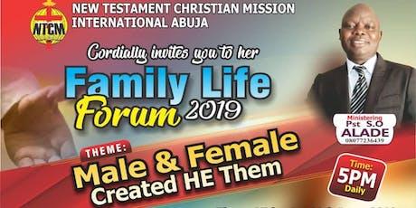 Abuja Family Life Forum  tickets