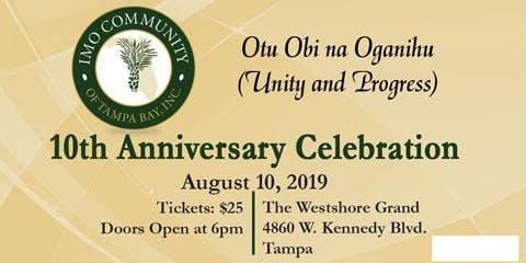Imo Community of Tampa Bay, Inc., 10th Anniversary Celebration