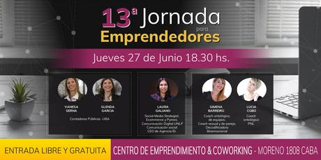 13ra Jornada para emprendedores entradas
