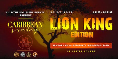 Caribbean Sunday: Lion King Edition. tickets