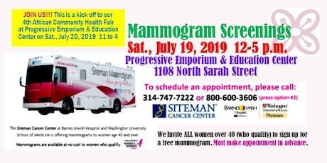 Free Mammogram Screenings  tickets