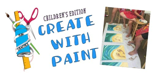 "Children's ""Create with Paint"" (Footprints in the Sand)"