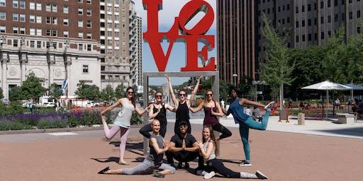 Yoga at Love Park