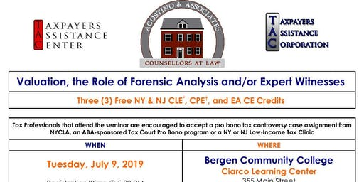 Valuation, The Role of Forensic Analysis and/or Expert Witnesses