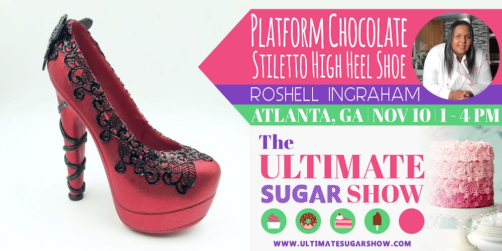 0387b438d86 3D Platform Chocolate Stiletto High Heel Shoe with Roshell Ingraham