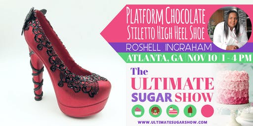 3D Platform Chocolate Stiletto High Heel Shoe with Roshell Ingraham