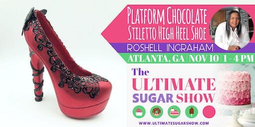3D Platform Chocolate Stiletto High Heel Shoe with Roshell Ingraham