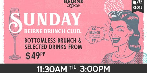 Beirne Brunch Club 1st September