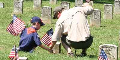 Stones River National Cemetery Memorial Day Flag Placement
