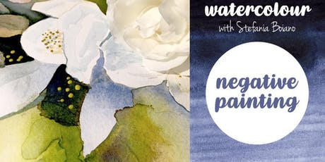 Watercolour for beginners: negative painting technique tickets