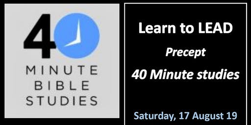 Learn to LEAD the 40 Minute studies