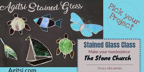 Pick Your Stained Glass Project.  Mini Feathers, Butterfly,Fish,Turtle,Boat tickets