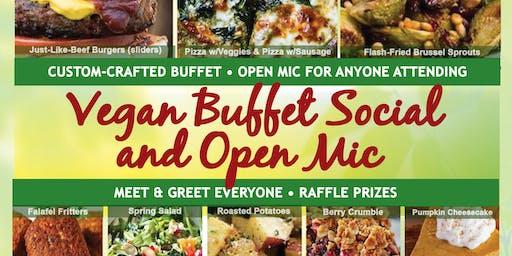 Vegan Buffet, Social & Open Mic Register by noon 6/20 Thur.