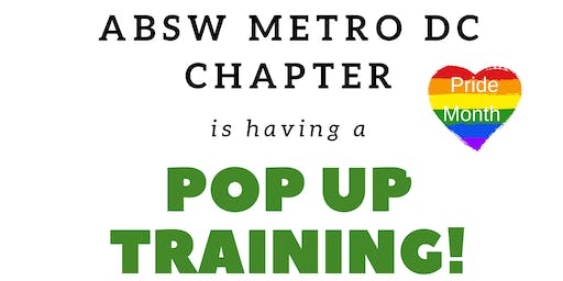 """Popup Training: """"Intro to LGBTQ + Community : Are You an ally or accomplice?"""""""
