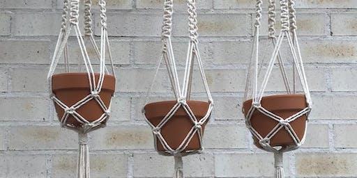 Macrame Plant Hanger for Kids - July School Holiday Workshops