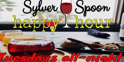 ALL-NIGHT HAPPY HOUR & Stand-Up Comedy at Sylver Spoon
